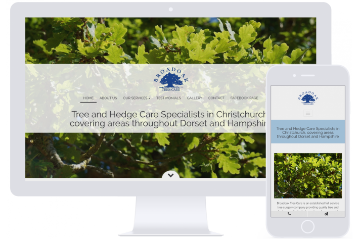 Tree surgeon website design Hampshire for small business