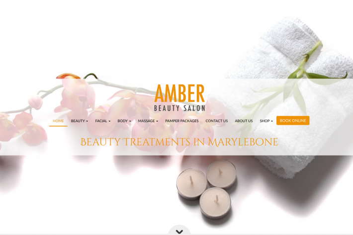 Amber Beauty Salon website design